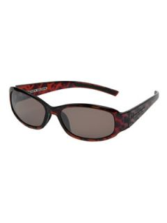 Cabo Shiny Dark Demi/Brown Polarized with Silver Mirror Flash