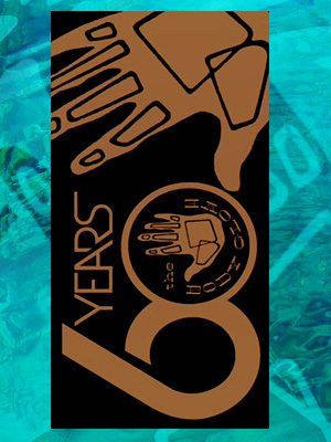 Body Glove 60 Years Gold Beach Towel