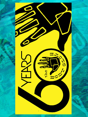 Body Glove 60 Year Anniversary (yellow /black) Beach Towel