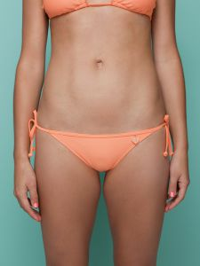 Smoothies Tie Side Bikini in Orangerine