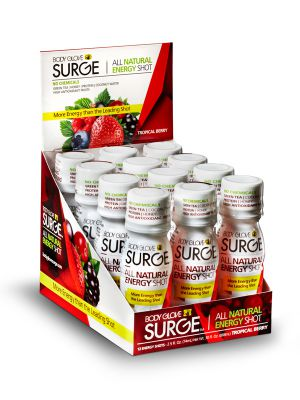 Body Glove SURGE Tropical Berry Shot - 12 Pack