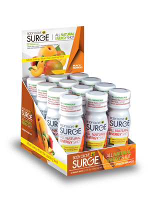 Body Glove SURGE Peach Mango Shot - 12 Pack